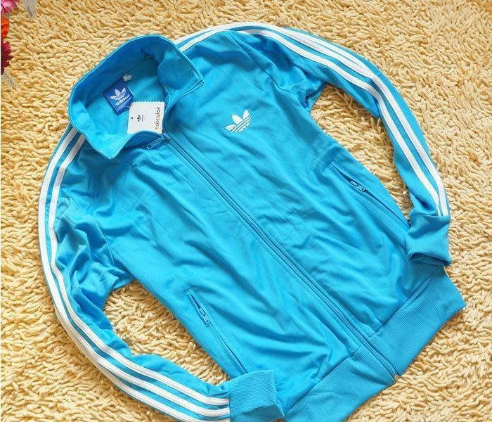 Veste adidas bleu et blanche femme