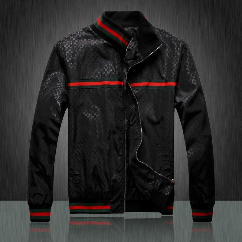 49.00EUR, gucci jacket - page10,chaude jacket gucci printemps et automne  collar three noir 2583ac9f9af