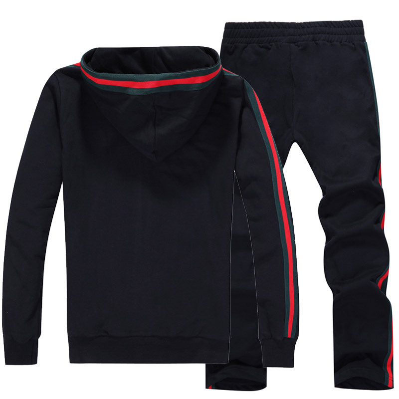 gucci survetement homme 2013 amateurs mode promotion noir rouge. Black Bedroom Furniture Sets. Home Design Ideas