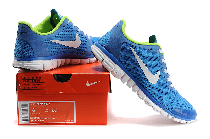 purchase cheap d9489 99885 ... czech nike free runningnike free 3.0 hommes nouveau maillage chaussures  sport prix reduit bleu d4794 d1b89