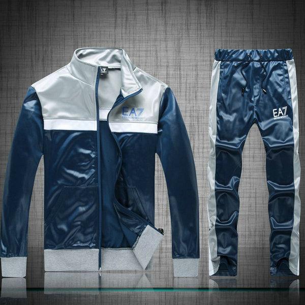 Bleu Capuche A Coton Survetement Armani Unx8wqO 762e35c8404